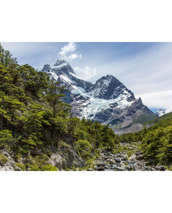 Lais Puzzle - Chile, Magallanes und die chilenische Antarktis, Ultima Esperanza, Torres del Paine, O-Circuit-Wanderung 130 km, Wander zum vorletzten Camp, Gletscher - 100, 200, 500, 1.000 & 2.000 Teile