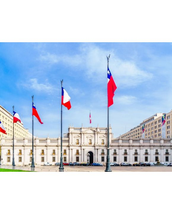Lais Puzzle - Blick auf den Palacio de La Moneda Royal Mint von Chile - 100, 200, 500, 1.000 & 2.000 Teile