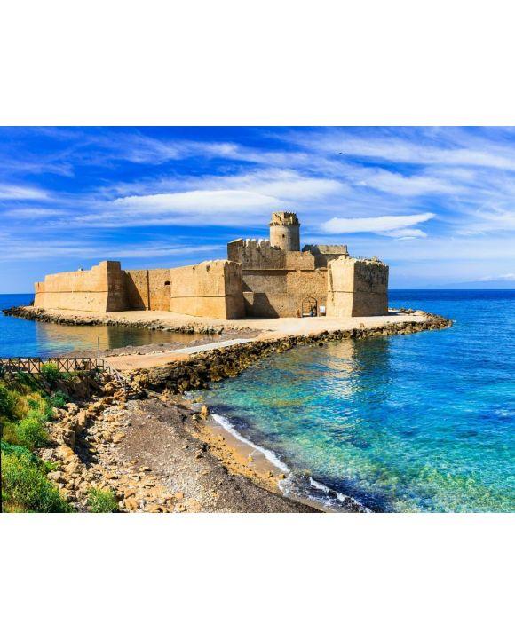 Lais Puzzle - Le Castella. Isola di Capo Rizzuto - erstaunliche Burg und schönes Meer in Kalabrien, Italien - 100, 200, 500, 1.000 & 2.000 Teile