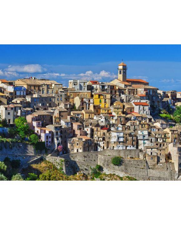 Lais Puzzle - Das Dorf Badolato, Kalabrien, Italien - 100, 200, 500, 1.000 & 2.000 Teile