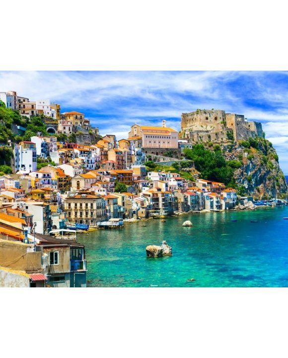 Lais Puzzle - schöne Strände und Städte von Kalabrien - Scilla. Italienische Sommerferien. - 100, 200, 500, 1.000 & 2.000 Teile