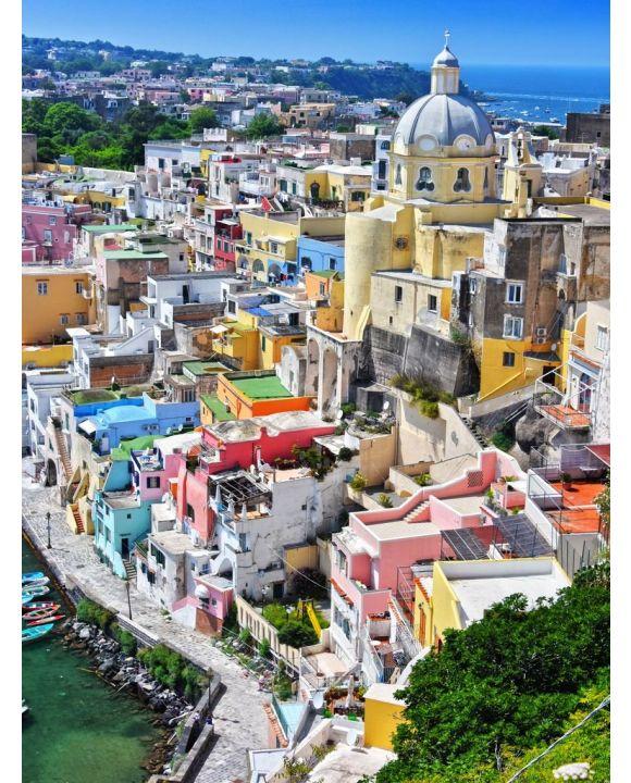 Lais Puzzle - Architektur der Insel Procida, Kampanien, Italien - 100, 200, 500, 1.000 & 2.000 Teile