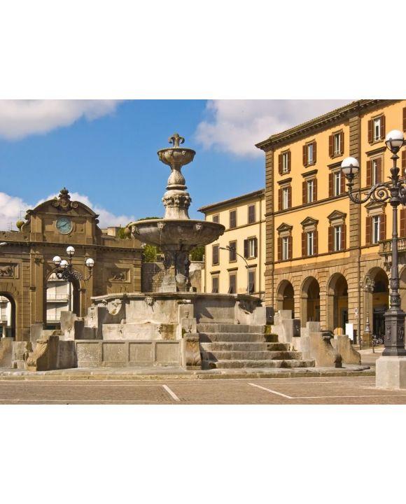 Lais Puzzle - Viterbo - Piazza della Rocca - Brunnen - Rocca Albornoz - 100, 200, 500, 1.000 & 2.000 Teile