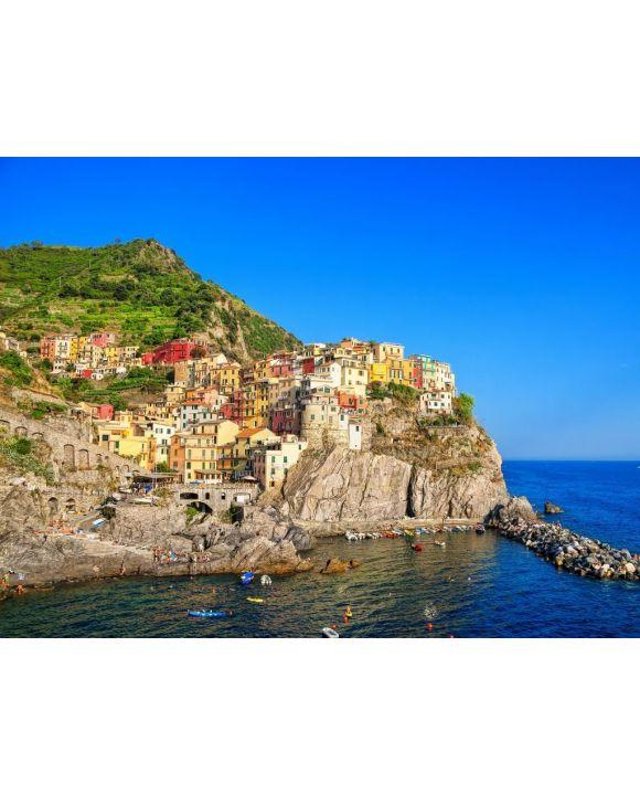 Lais Puzzle - Manarola ist eine kleine Stadt in der Gemeinde Riomaggiore in der Provinz La Spezia in Ligurien an der norditalienischen Küste der Cinque Terre. - 100, 200, 500, 1.000 & 2.000 Teile