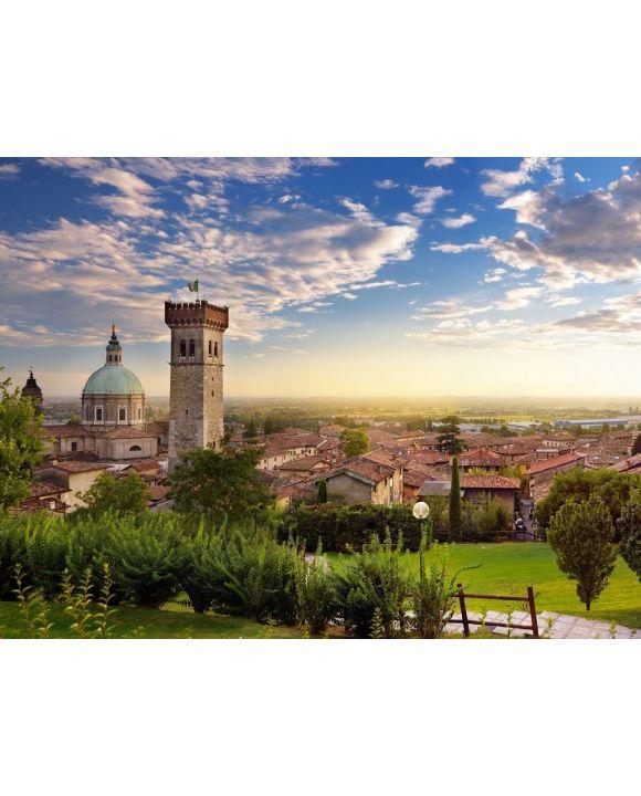 Lais Puzzle - Schöne Sonnenuntergangsansicht von Lonato del Garda, einer Stadt und Gemeinde in der Provinz Brescia, Italien - 100, 200, 500, 1.000 & 2.000 Teile