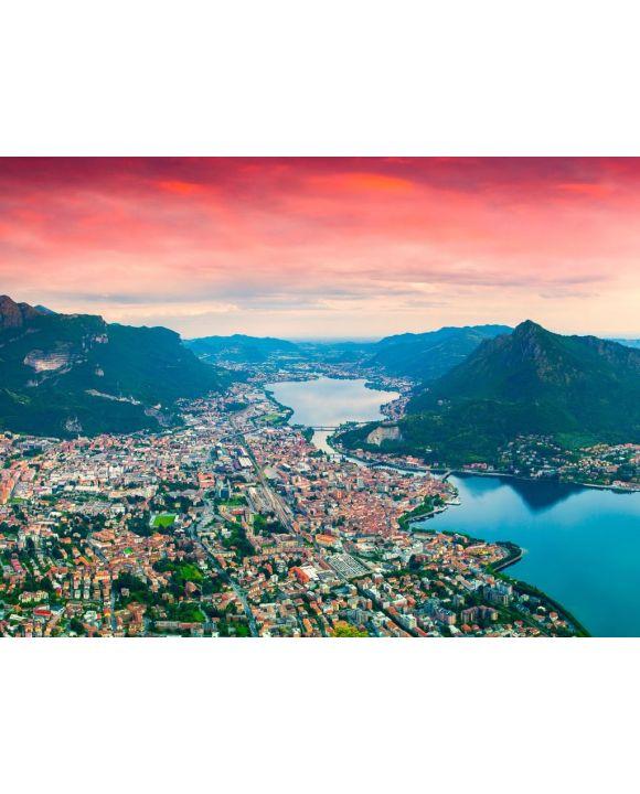 Lais Puzzle - Panorama der Stadt Lecco - 100, 200, 500, 1.000 & 2.000 Teile