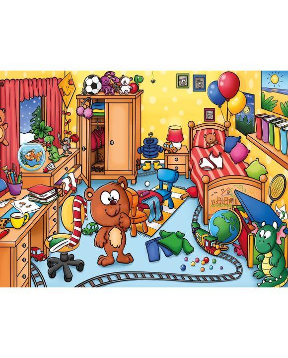 Lais Puzzle - Kinderzimmer mit vielen Gegenständen - Wimmelbild - 500 & 1.000 Teile