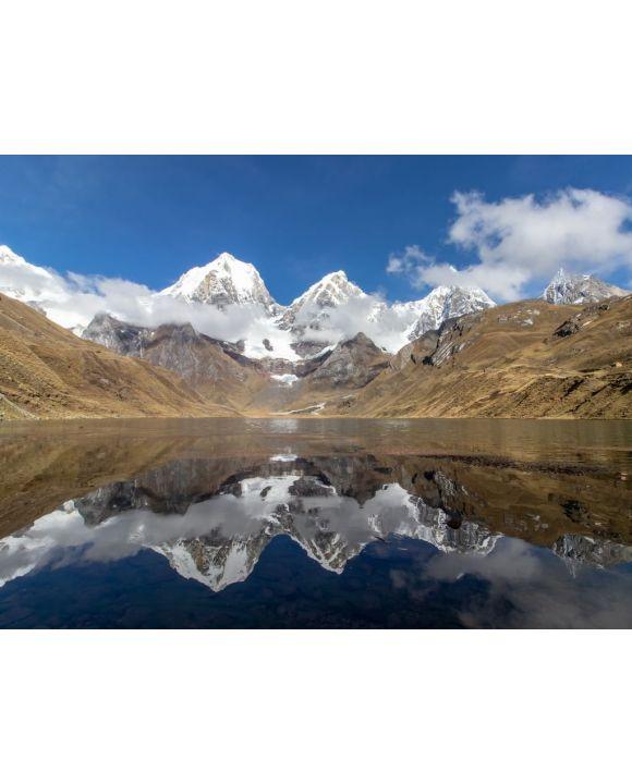 Lais Puzzle - Panoramablick vom westlichen Ende der Lagona Carhuacocha zum Berg Yerupajá, Anden, Peru - 500 & 1.000 Teile
