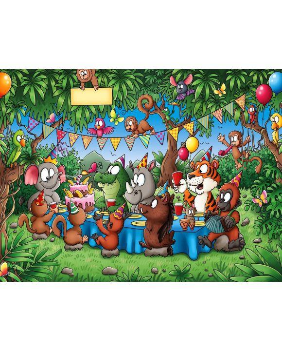 Lais Puzzle - Tierische Freunde feiern Geburtstag im Dschungel - 500 & 1.000 Teile