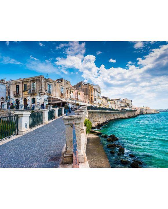 Lais Puzzle - Küste der Insel Ortigia bei der Stadt Syrakus, Sizilien, Italien - 500 Teile