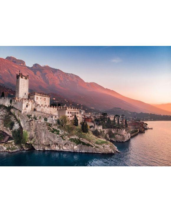 Lais Puzzle - Gardasee - Blick auf das Dorf Malcesine - 500 & 1.000 Teile