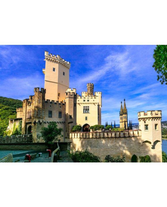 Lais Puzzle - Reisen Sie auf der legendären Rhein-Romantik-Route - Schloss Stolzenfels. Deutschland - 500 & 1.000 Teile