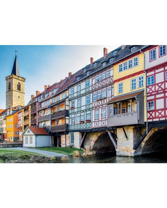 Lais Puzzle - Blick Ansicht der Krämerbrücke Erfurt - 500 & 1.000 Teile