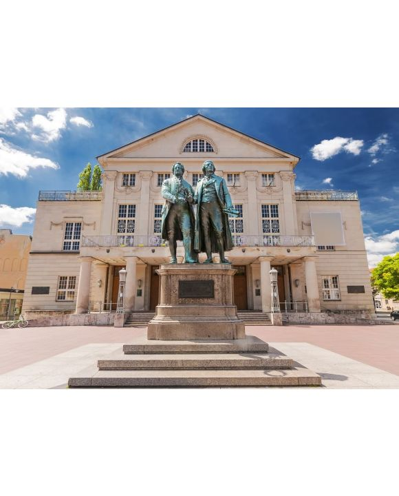Lais Puzzle - Deutsches Nationaltheater mit Goethe und Schiller in Weimar, Thüringen - 500 & 1.000 Teile