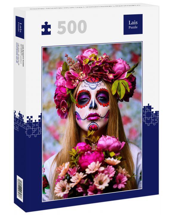 Lais Puzzle - traditionelle Totenkostüme / Dio de los Muertes, Mexiko - 500 Teile