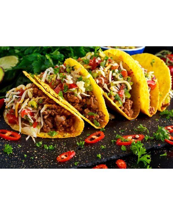 Lais Puzzle - Mexikanisches Essen - köstliche Taco-Schalen mit Rinderhackfleisch und hausgemachter Salsa - 500 & 1.000 Teile