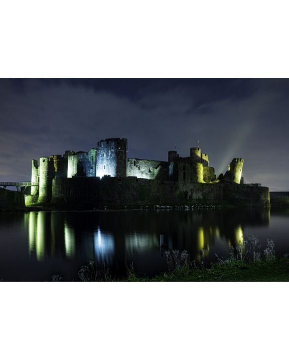 Lais Puzzle - Caerphilly Castle bei Nacht, Wales - 500 & 1.000 Teile