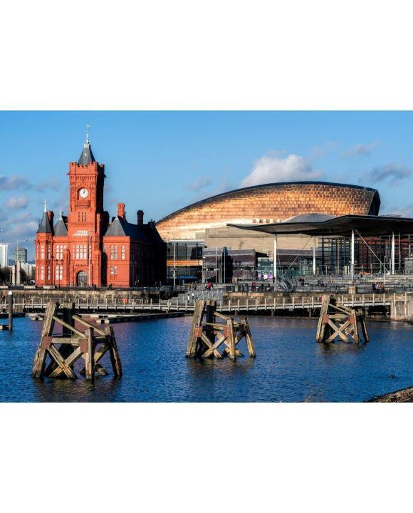 Lais Puzzle - Gebäude Pierhead und Millenium Centre Cardiff Bay - 500 & 1.000 Teile