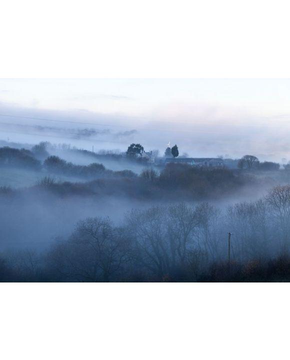Lais Puzzle - Kalter, nebliger Morgen in walisischer Landschaft - 500 & 1.000 Teile