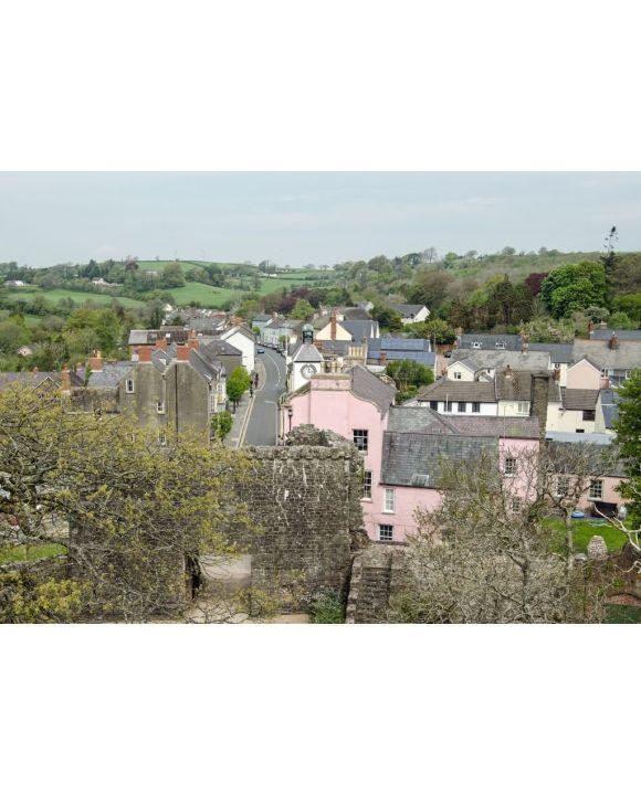 Lais Puzzle - Laugharne Stadtzentrum von oben, Carmarthenshire, Wales - 500 & 1.000 Teile
