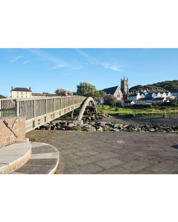 Lais Puzzle - Fußgängerbrücke in Aberaeron, Ceredigion, Wales, UK - 500 & 1.000 Teile
