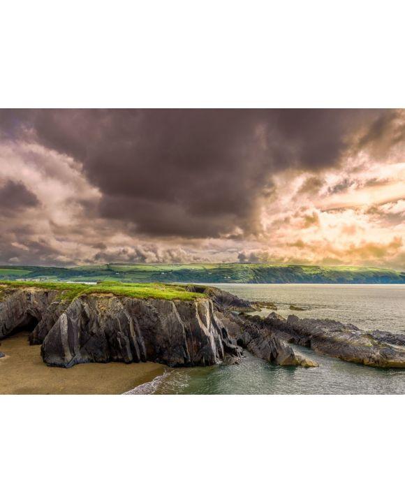 Lais Puzzle - Küstenweg Cardigan, Wales, dramatischer Himmel - 500 & 1.000 Teile