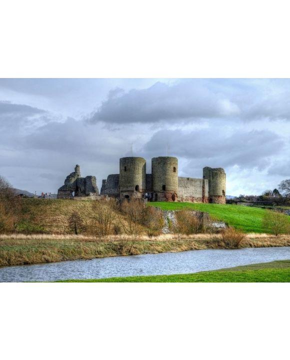Lais Puzzle - Schloss Rhuddlan von der anderen Seite des Flusses Clwyd, Denbighshire, Wales - 500 & 1.000 Teile