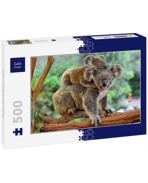 Lais Puzzle - Koala mit Baby auf dem Rücken - 500 Teile