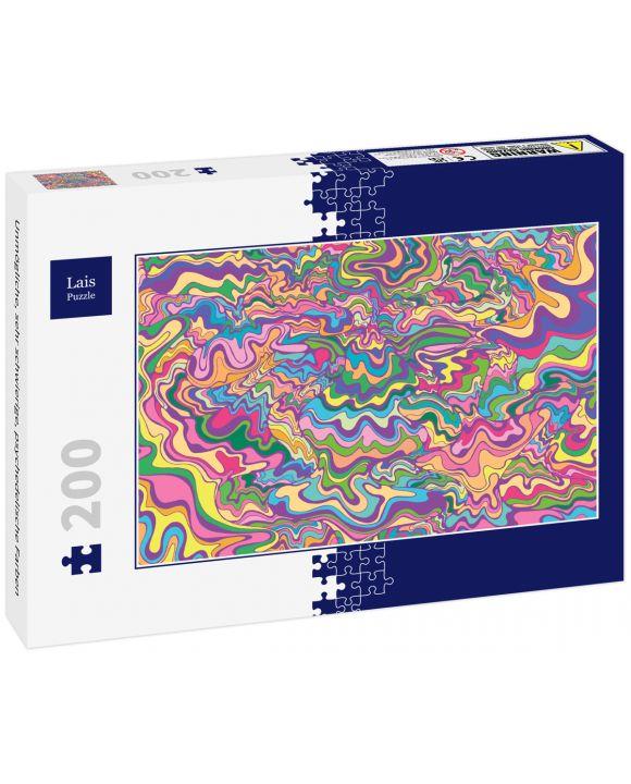 Lais Puzzle - Unmögliche, sehr schwierige, psychedelische Farben - 200 Teile