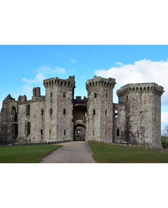 Lais Puzzle - Schloss Raglan in Monmouthshire Wales mit seinen imposanten Türmen - 500 & 1.000 Teile