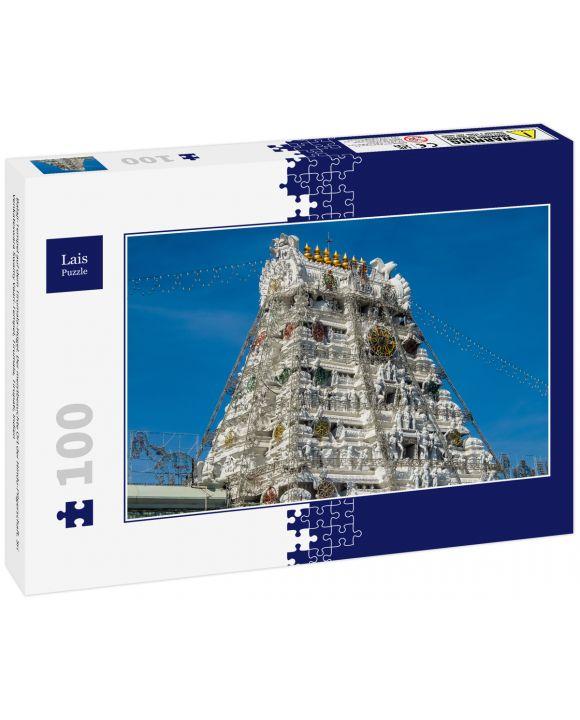 Lais Puzzle - Balaji-Tempel auf dem Tirumala-Hügel. Der meistbesuchte Ort der Hindu-Pilgerschaft. Sri Venkateswara Swamy Vaari-Tempel, Tirumala, Tirupati, Indien - 100 Teile