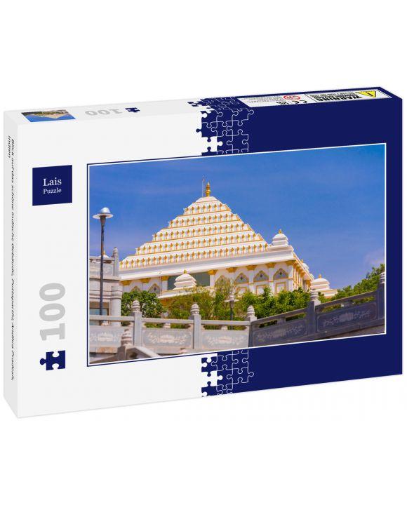 Lais Puzzle - Blick auf das schöne indische Gebäude, Puttaparthi, Andhra Pradesh, Indien - 100 Teile