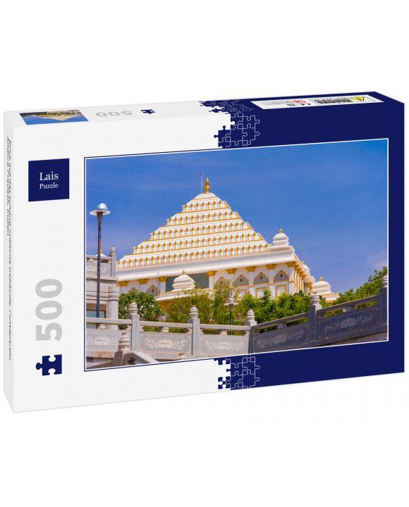 Lais Puzzle - Blick auf das schöne indische Gebäude, Puttaparthi, Andhra Pradesh, Indien - 500 Teile
