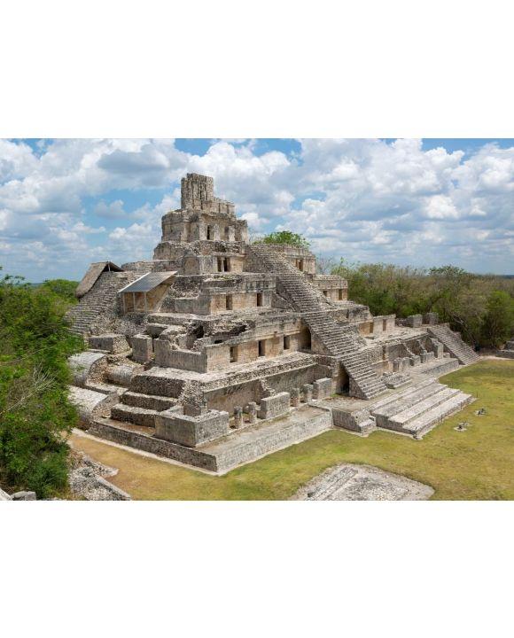 Lais Puzzle - Haupttempel in Edzna, Campeche, Mexiko - 500 & 1.000 Teile