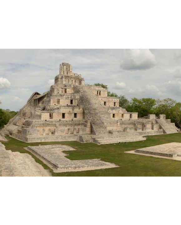 Lais Puzzle - Panoramablick auf die Maya-Pyramiden Edzna. Yucatan, Campeche, Mexiko - 500 & 1.000 Teile
