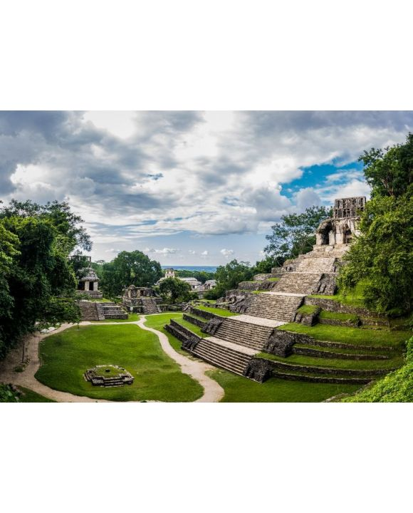 Lais Puzzle - Tempel der Kreuzgruppe in den Maya-Ruinen von Palenque - Chiapas, Mexiko - 500 & 1.000 Teile