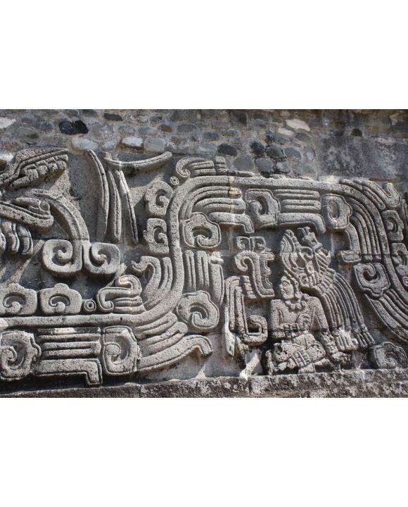 Lais Puzzle - Flachreliefschnitzerei mit Darstellung eines Indianerhäuptlings, Xochicalco, Mexiko - 500 & 1.000 Teile