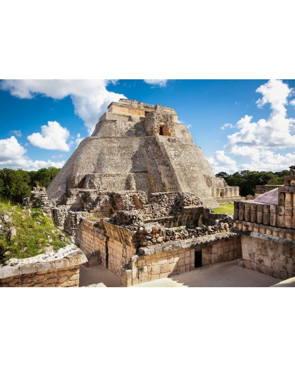 Lais Puzzle - Magier (Piramide del adivino) in der alten Maya-Stadt Uxmal, Mexiko - 500 & 1.000 Teile