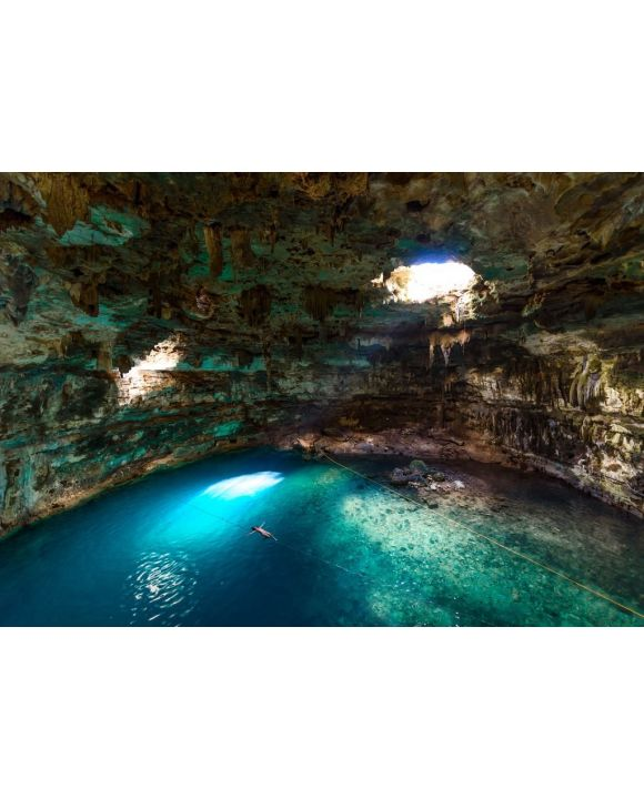 Lais Puzzle - Cenote Samula Dzitnup bei Valladolid, Yucatan, Mexiko - Schwimmen im kristallblauen Wasser - 500 & 1.000 Teile