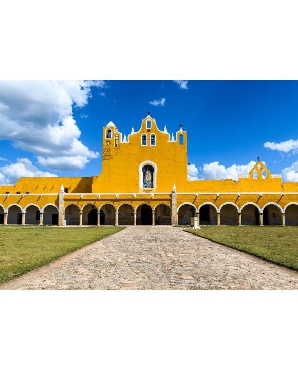 Lais Puzzle - Kirche und Kloster in Izamal, Yucatan, Mexiko, spanische Kolonialstadt Gelb, Convento de San Antonio auf der Halbinsel Yucatan - 500 & 1.000 Teile