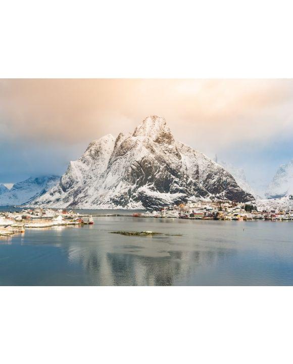 Lais Puzzle - Reine, Lofoten Inseln, Norwegen. Winteransicht bei Sonnenaufgang - 500 & 1.000 Teile