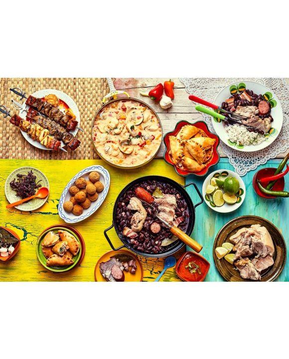 Lais Puzzle - Frisch gekochtes Festmahl mit brasilianischen Gerichten - 500 & 1.000 Teile