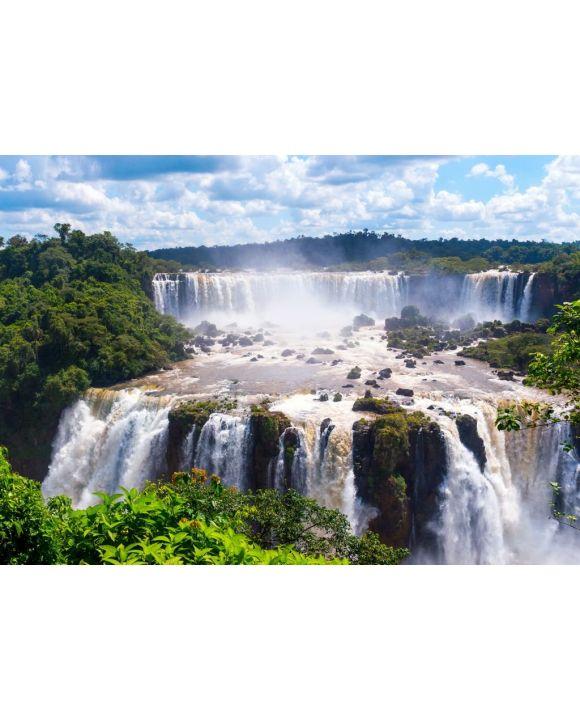 Lais Puzzle - Panoramablick auf die Iguazu-Fälle, Wasserfall in Brasilien - 500 & 1.000 Teile