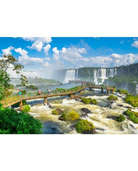 Lais Puzzle - Schöner Blick auf die Iguazu-Wasserfälle, eines der sieben Naturwunder der Welt - Foz do Iguaçu, Brasilien - 500 & 1.000 Teile