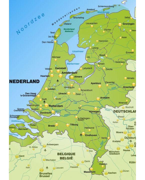 Lais Puzzle - Karte Niederlande - 500 & 1.000 Teile
