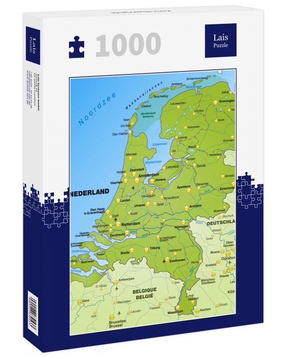 Lais Puzzle - Karte Niederlande - 1.000 Teile