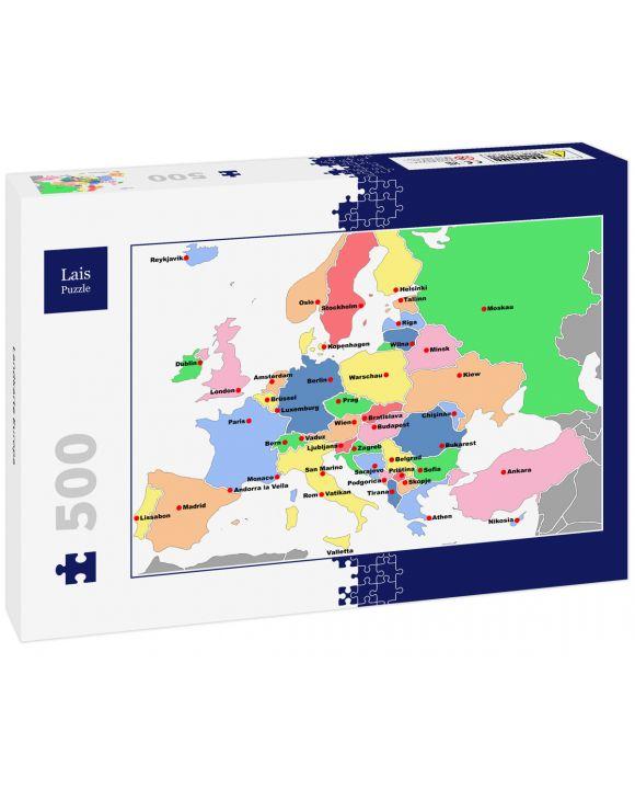Lais Puzzle - Landkarte Europa - 500 Teile