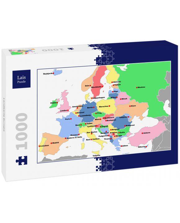 Lais Puzzle - Landkarte Europa - 1.000 Teile