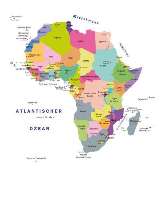 Lais Puzzle - Landkarte Afrika - 500 & 1.000 Teile