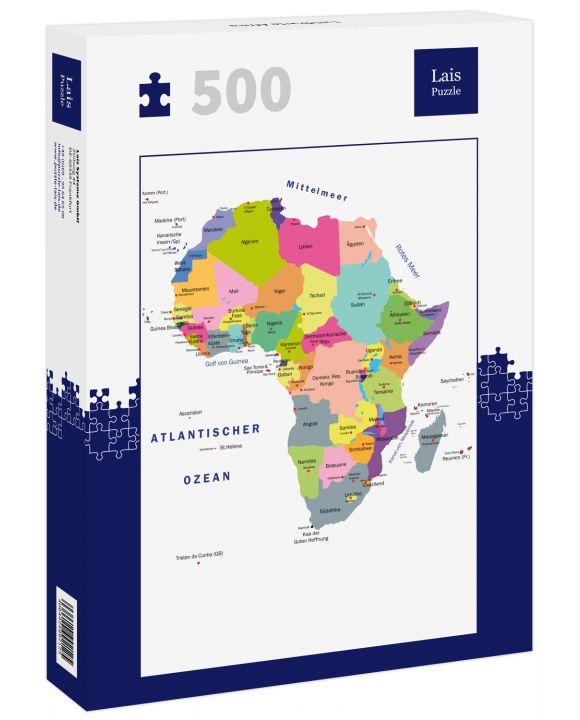 Lais Puzzle - Landkarte Afrika - 500 Teile